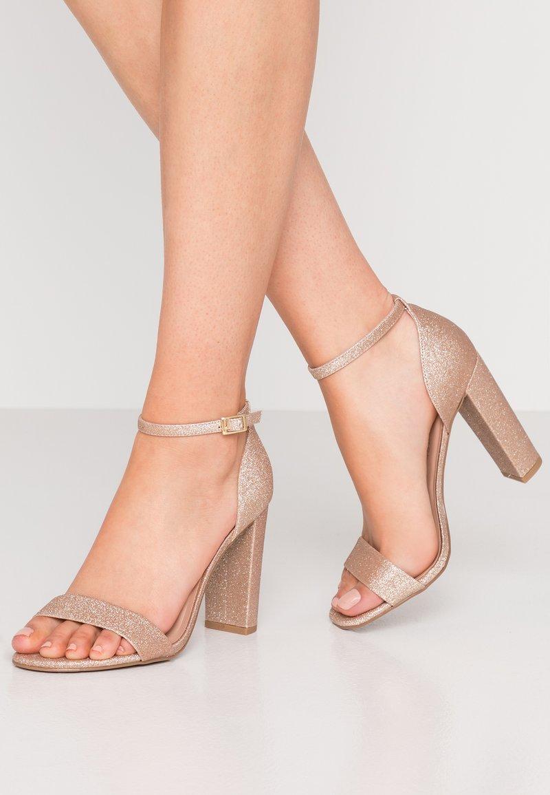 New Look Wide Fit - WIDE FIT TARONA  - Sandalen met hoge hak - rose gold