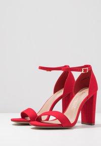 New Look Wide Fit - WIDE FIT TARONA - Sandaler med høye hæler - bright red - 4
