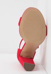 New Look Wide Fit - WIDE FIT TARONA - Sandaler med høye hæler - bright red - 6