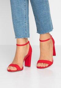 New Look Wide Fit - WIDE FIT TARONA - Sandaler med høye hæler - bright red - 0