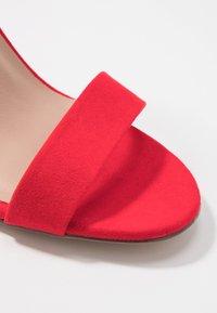 New Look Wide Fit - WIDE FIT TARONA - Sandaler med høye hæler - bright red - 2