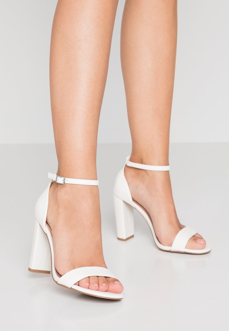 New Look Wide Fit - WIDE FIT TARONA - High heeled sandals - white
