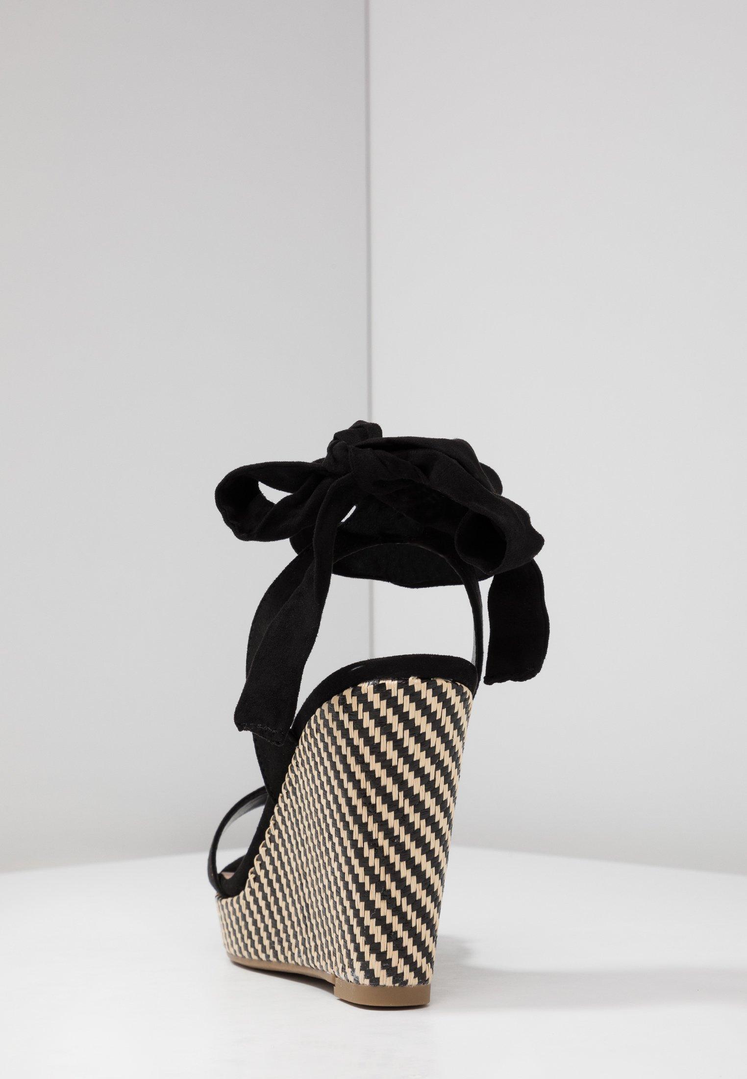 New Look Wide Fit Preppy - Sandales À Plateforme Black