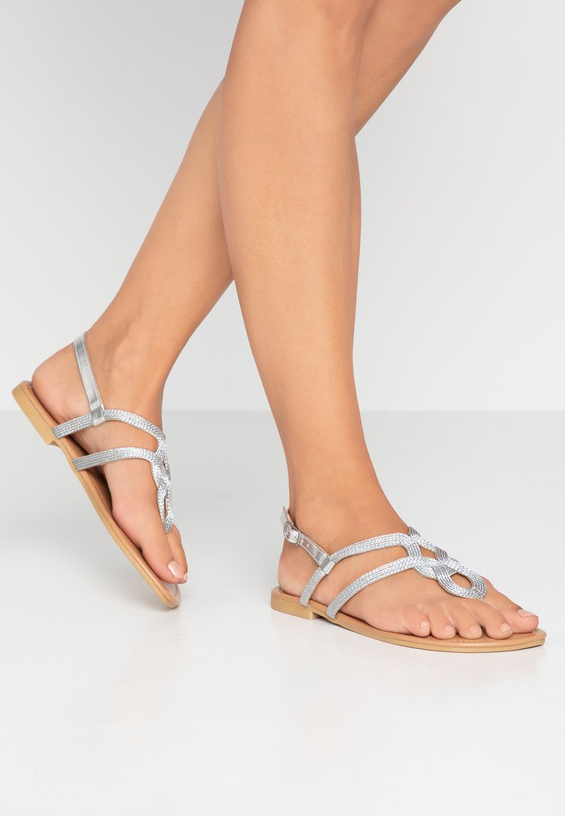 New Look Wide Fit - WIDE FIT GRECIAN - Zehentrenner - silver