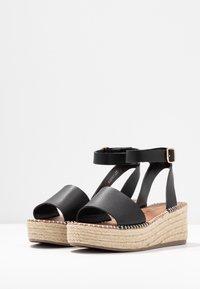 New Look Wide Fit - WIDE FIT POPPINS - Sandales à plateforme - black - 4