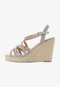 New Look Wide Fit - WIDE FIT OSPARKLE - High heeled sandals - mid grey - 1