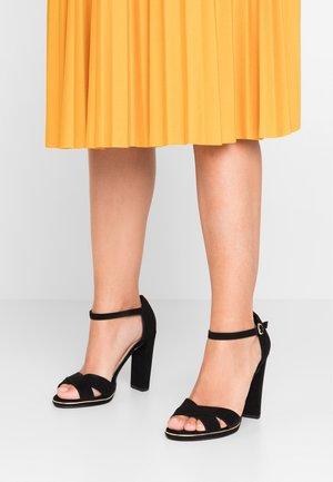 WIDE FIT TAMPA - High heeled sandals - black
