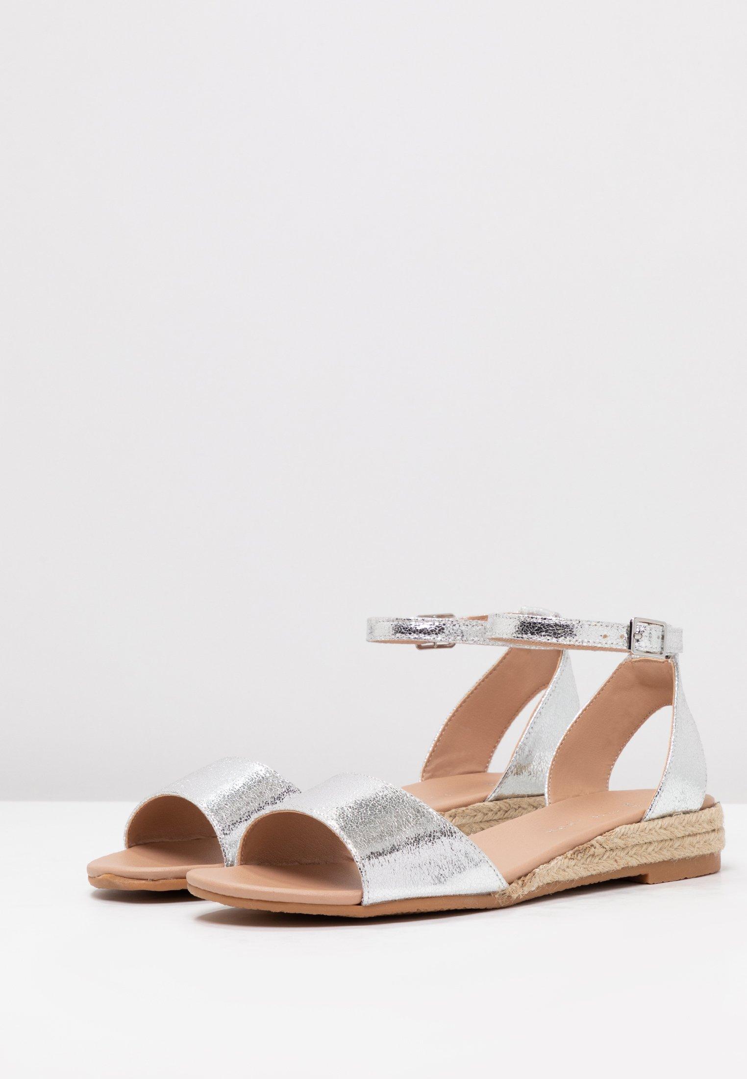 New Look Wide Fit Fedge - Sandales Compensées Silver