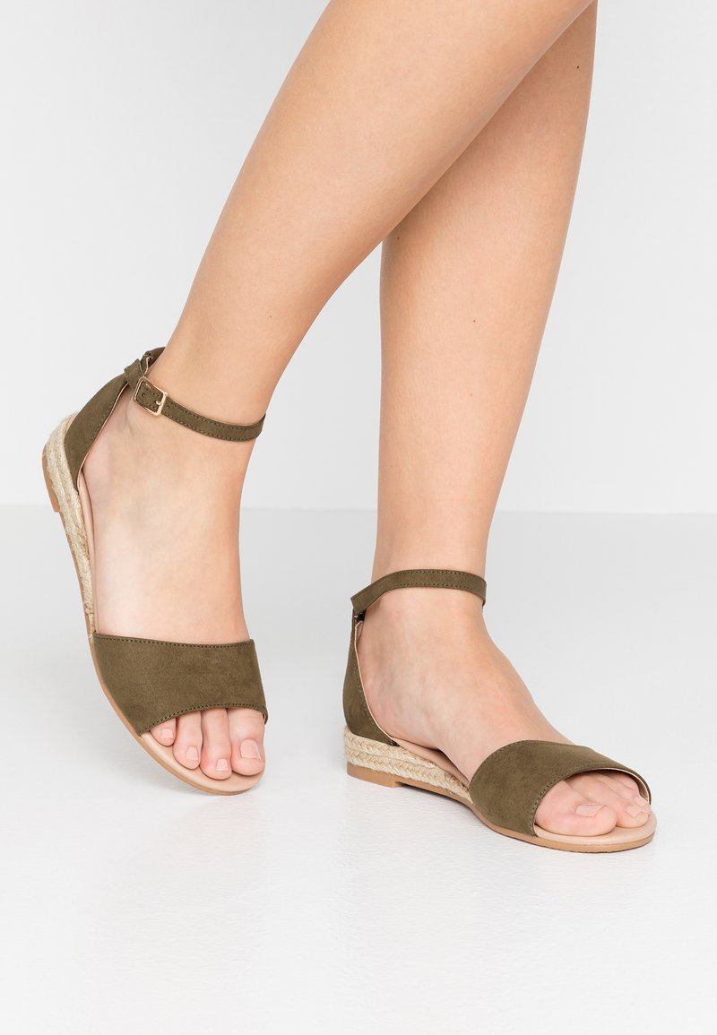 New Look Wide Fit - WIDE FIT FEDGE - Sandales compensées - dark khaki
