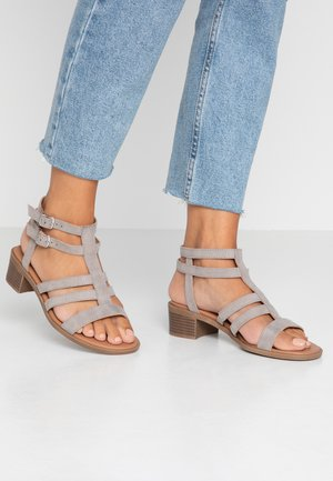 WIDE FIT PIRATE - Sandals - mid grey