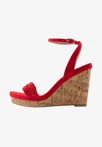 New Look Wide Fit - WIDE FIT PILAR - Sandály na vysokém podpatku - bright red - 1