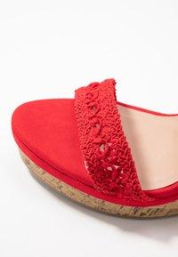 New Look Wide Fit - WIDE FIT PILAR - Sandály na vysokém podpatku - bright red - 2