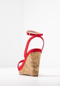 New Look Wide Fit - WIDE FIT PILAR - Sandály na vysokém podpatku - bright red - 5