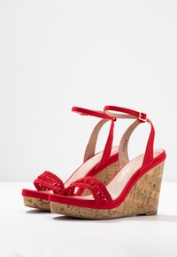New Look Wide Fit - WIDE FIT PILAR - Sandály na vysokém podpatku - bright red - 4