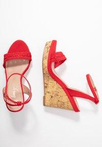 New Look Wide Fit - WIDE FIT PILAR - Sandály na vysokém podpatku - bright red - 3