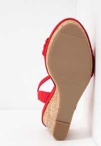 New Look Wide Fit - WIDE FIT PILAR - Sandály na vysokém podpatku - bright red - 6