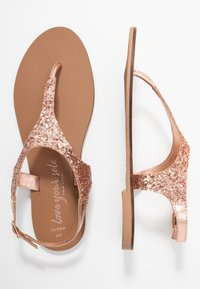 New Look Wide Fit - WIDE FIT GLITTERY - tåsandaler - rose gold - 3