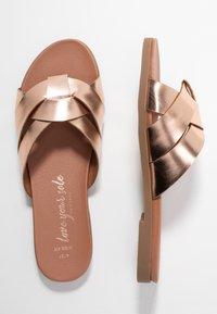 New Look Wide Fit - WIDE FIT HOTTIE  - Mules - rose gold - 3