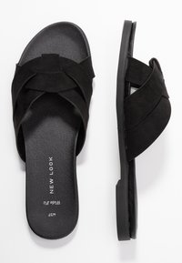 New Look Wide Fit - WIDE FIT HOTTIE - Pantofle - black - 3