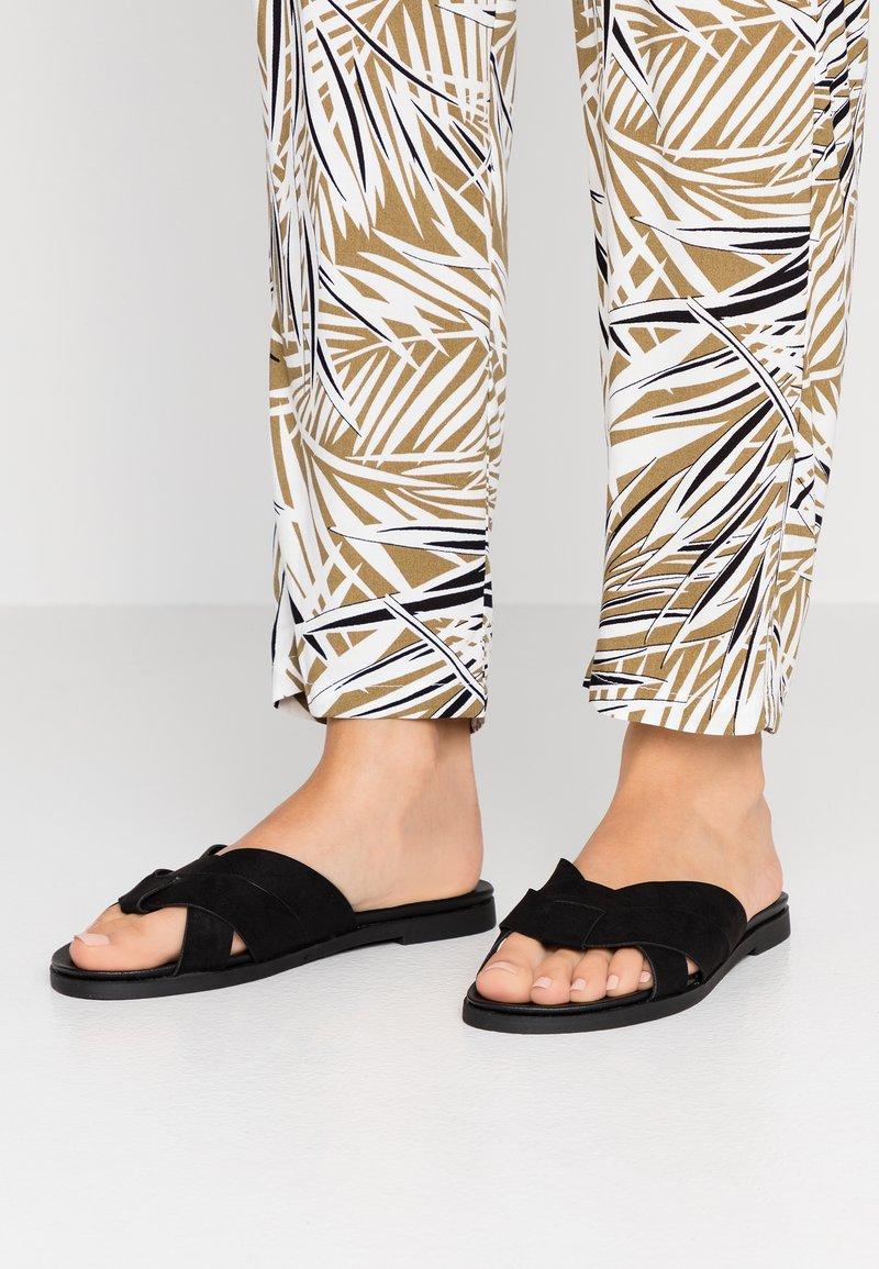New Look Wide Fit - WIDE FIT HOTTIE - Pantofle - black