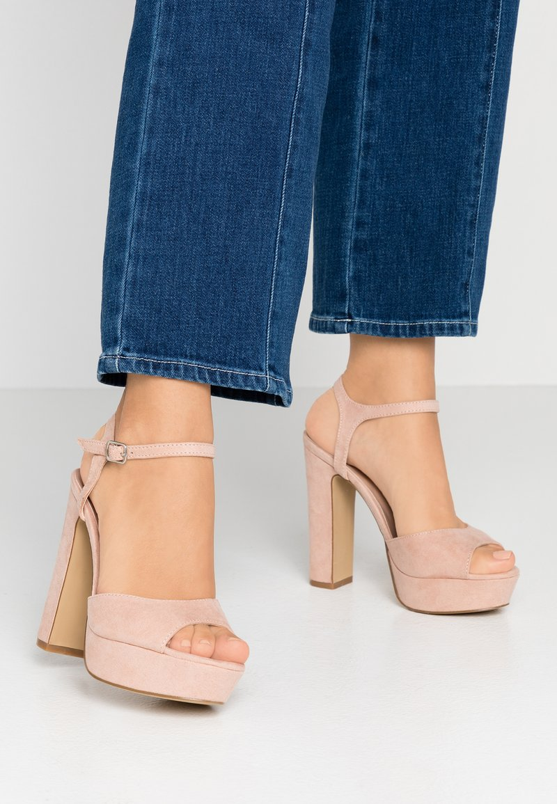 New Look Wide Fit - WIDE FIT TIGER - High heeled sandals - oatmeal