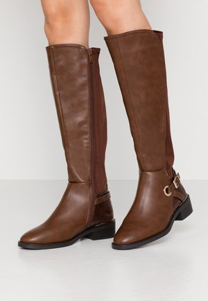 WIDE FIT DELTA - Boots - tan