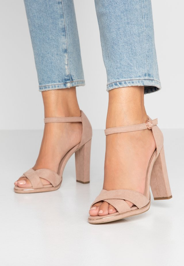 WIDE FIT TAMPA  - High heeled sandals - oatmeal