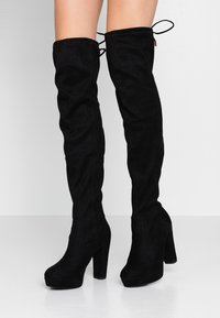 New Look Wide Fit - WIDE FIT BARTY - Botas de tacón - black - 0