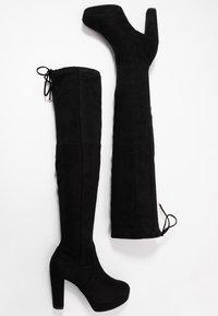 New Look Wide Fit - WIDE FIT BARTY - Botas de tacón - black - 3