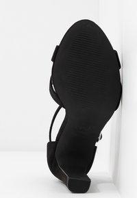 New Look Wide Fit - WIDE FIT TEA - Sandali con tacco - black - 6