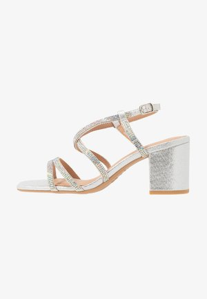WIDE FIT TACHING - Sandales - silver