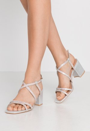 WIDE FIT TACHING - Sandals - silver
