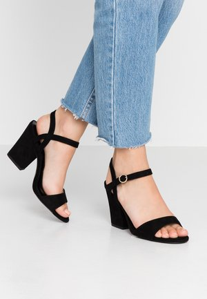 WIDE FIT ZENICE - Sandály na vysokém podpatku - black