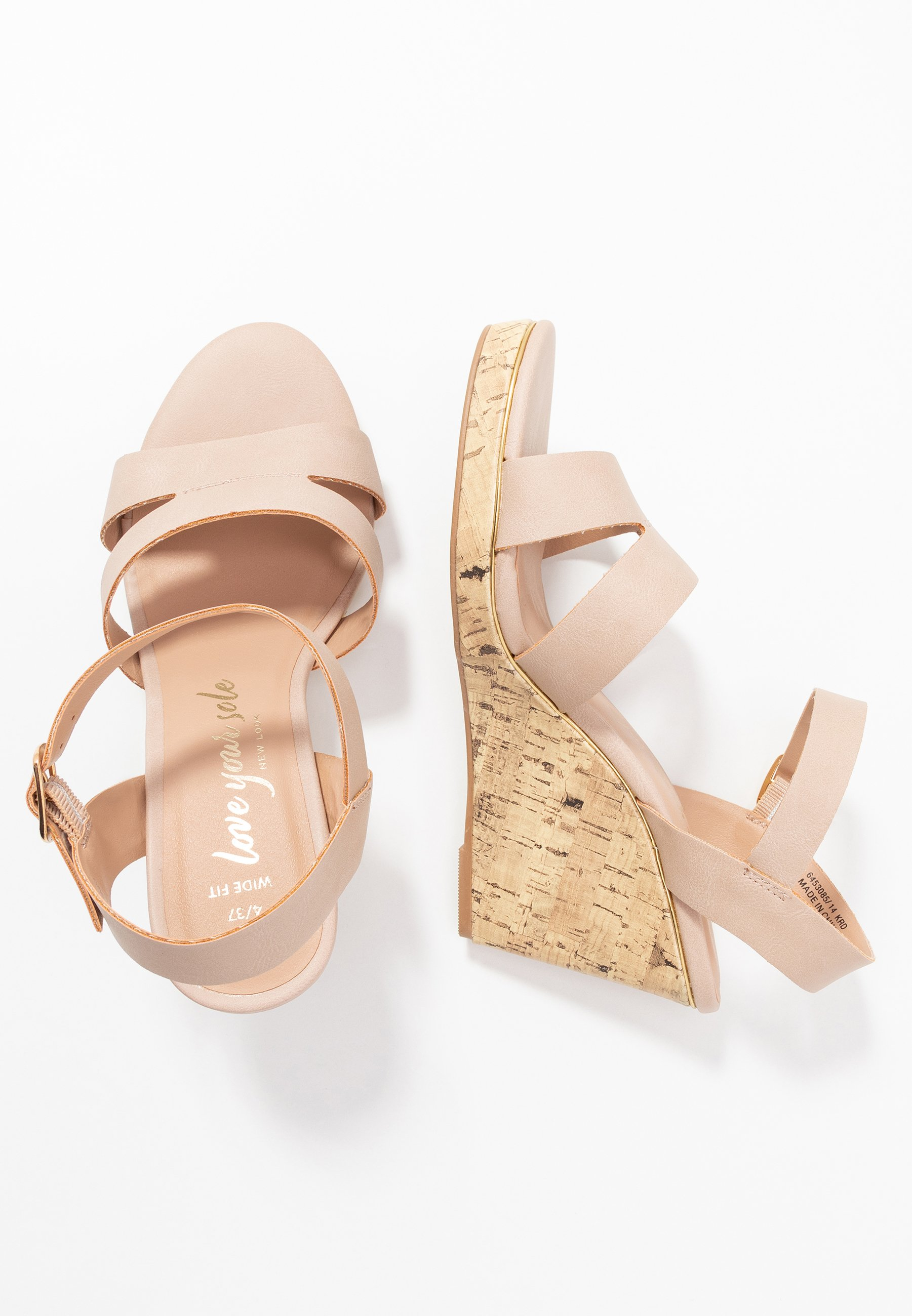 New Look Wide Fit WIDE FIT POSSUM WEDGE - Sandaler med høye hæler - tan