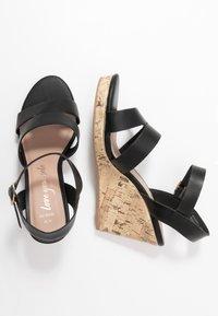New Look Wide Fit - WIDE FIT POSSUM WEDGE - Korolliset sandaalit - black - 3