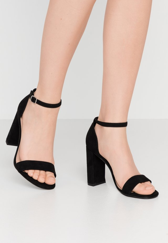 WIDE FIT VARONA - High heeled sandals - black