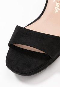 New Look Wide Fit - WIDE FIT ZEBRA - High heeled sandals - black - 2