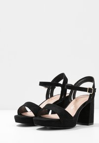 New Look Wide Fit - WIDE FIT ZEBRA - High heeled sandals - black - 4