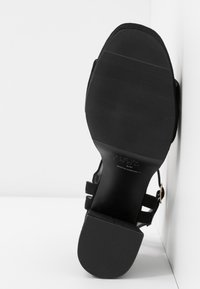 New Look Wide Fit - WIDE FIT ZEBRA - High heeled sandals - black - 6