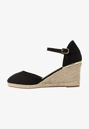 WIDE FIT SWIGGLE - Espadrilles - black