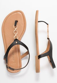 New Look Wide Fit - WIDE FIT HOXTON - T-bar sandals - black - 3