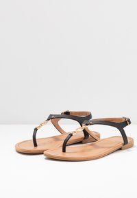 New Look Wide Fit - WIDE FIT HOXTON - T-bar sandals - black - 4