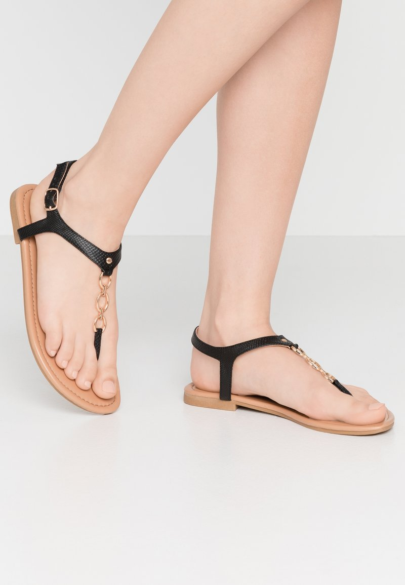 New Look Wide Fit - WIDE FIT HOXTON - T-bar sandals - black