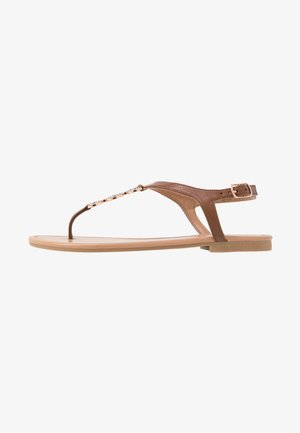 WIDE FIT HOXTON - T-bar sandals - tan