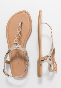 New Look Wide Fit - WIDE FIT HOXTON - T-bar sandals - stone - 3