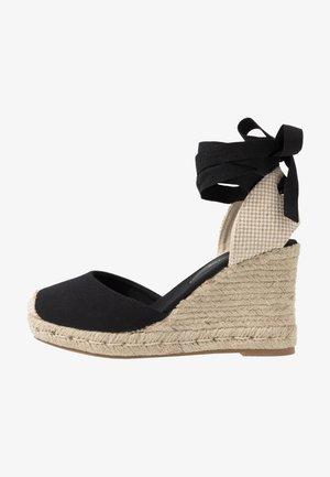 WIDE FIT TRINIDAD - High heeled sandals - black