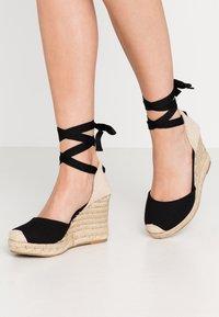 New Look Wide Fit - WIDE FIT TRINIDAD - Sandály na vysokém podpatku - black - 0