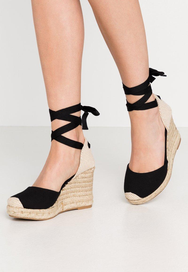 New Look Wide Fit - WIDE FIT TRINIDAD - Sandály na vysokém podpatku - black
