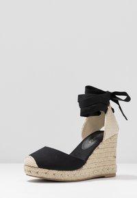 New Look Wide Fit - WIDE FIT TRINIDAD - Sandály na vysokém podpatku - black - 4
