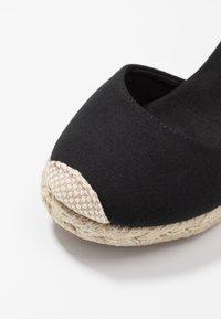 New Look Wide Fit - WIDE FIT TRINIDAD - Sandály na vysokém podpatku - black - 2